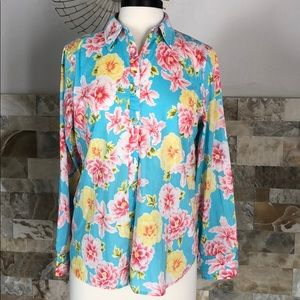 Jones of NewYork floral print button down shirt